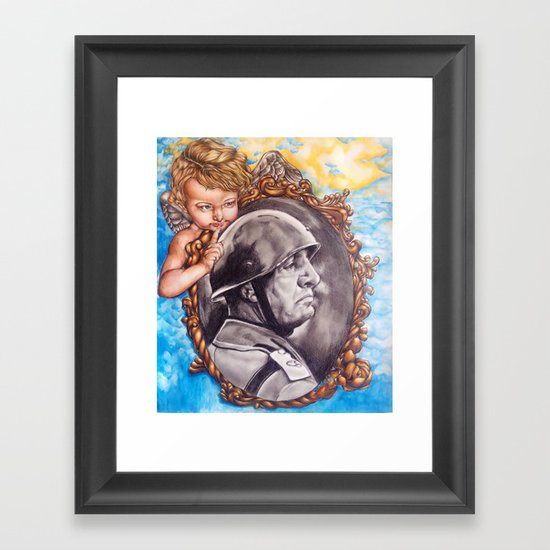 COME BACK OR LEAVE By Davy Wong Framed Art Print
