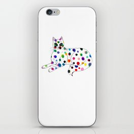 Dotted Cat - Color ink Drawing iPhone Skin