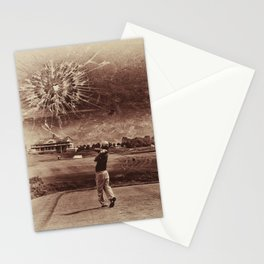 Broken Glass Sky Sepia Stationery Cards