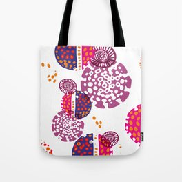 Micro pink and ultra violet composition Tote Bag