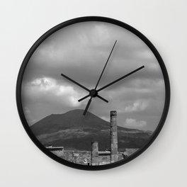 Mount Vesuvius Volcano Overlooking Pompeii Wall Clock