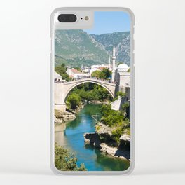 Summer in Mostar Clear iPhone Case