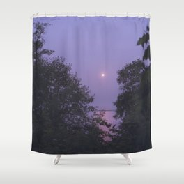 Purple Sky, Pink Sun Shower Curtain