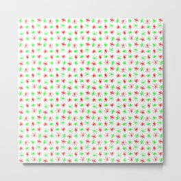 stars 78 - green and red Metal Print