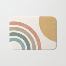 Mid Century Colorful Sun & Rainbow Bath Mat