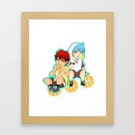 kagami taiga and kuroko tetsuya Framed Art Print
