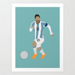 Messi Argentina Print Art Print