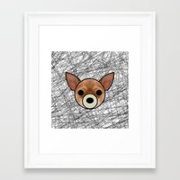 chihuahua Framed Art Prints featuring Chihuahua by lllg