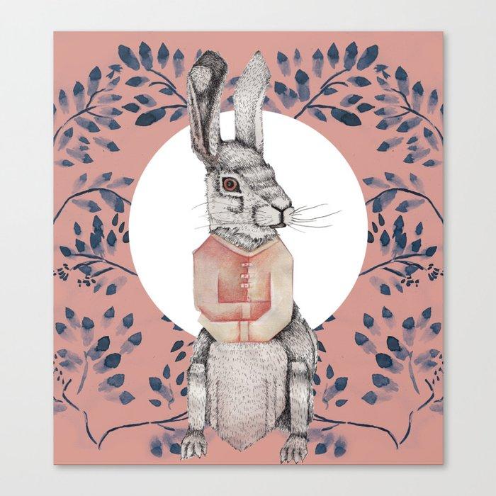Loony Rabbit Canvas Print