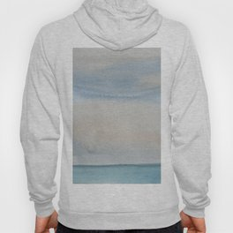Simple seascape in watercolor Hoody