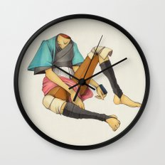When I Was Little, My Father Was Famous. (No type) Wall Clock