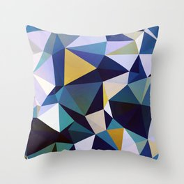 Abstract Geometric Triangle Pattern Throw Pillow