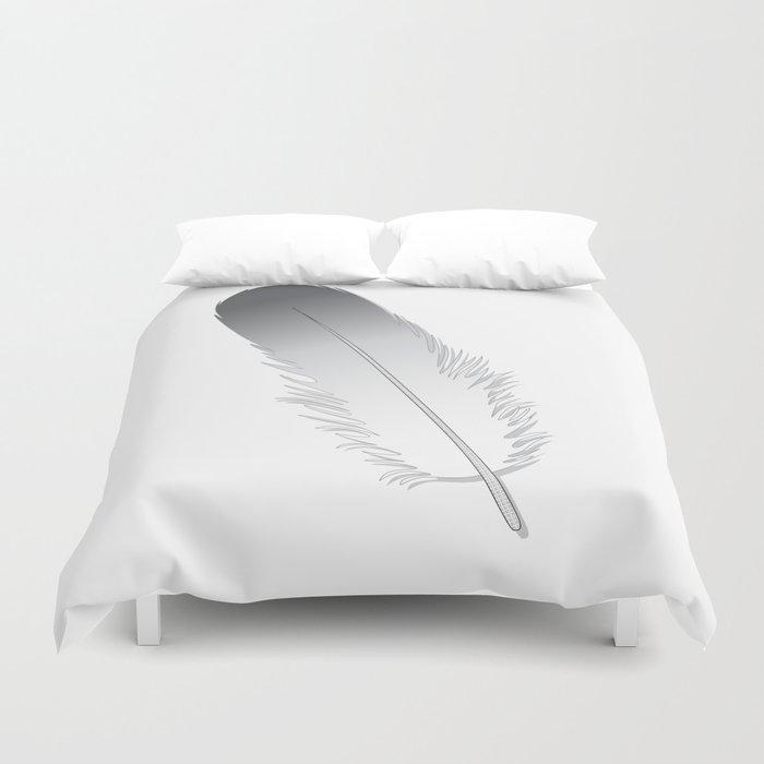 White Fuzz Feather Duvet Cover