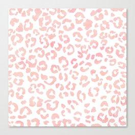 Blush pink modern leopard pattern watercolorpattern Canvas Print