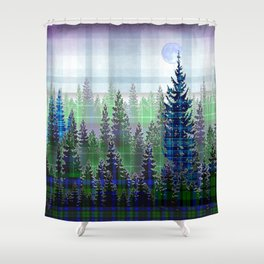 Plaid Forest Shower Curtain