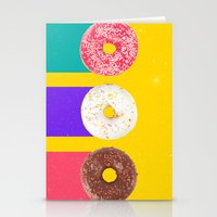 donuts Stationery Cards featuring Donuts by Danny Ivan