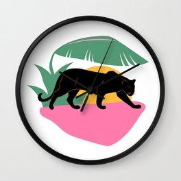 Panther Sunset Wall Clock