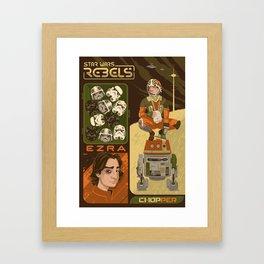 Rebel 4: Ezra Bridger Framed Art Print