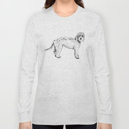 Labradoodle/Goldendoodle Ink Drawing Long Sleeve T-shirt