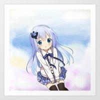 eugenia loli Art Prints featuring Sky Loli by Matabei