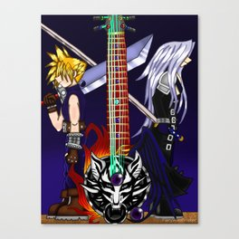 Fusion Keyblade Guitar #22 - Fenrir & One-Winged Angel Canvas Print