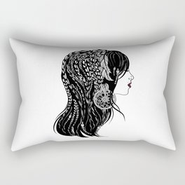Bohemian Girl Rectangular Pillow