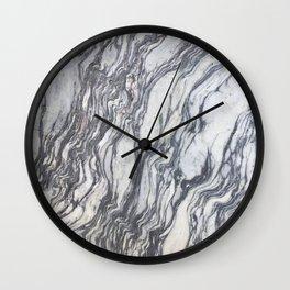 Wild Natural Marble Wall Clock