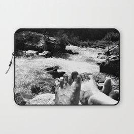 verpeil valley cold river feet kaunertal tirol austria europe black white Laptop Sleeve