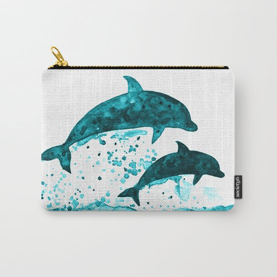 Dolphins, navy blue Carry-All Pouch