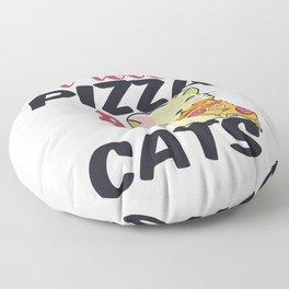 pizza hobby italy feed me i love pizza katze cat Floor Pillow