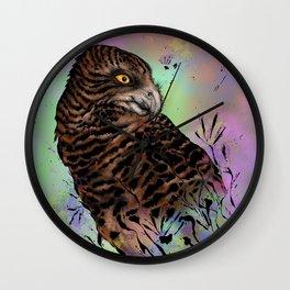 Harriet Owl Wall Clock
