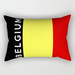 belgium country flag name text Rectangular Pillow