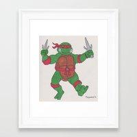 ninja turtle Framed Art Prints featuring Teenage Mutant Ninja Turtle by GL Przewoznik