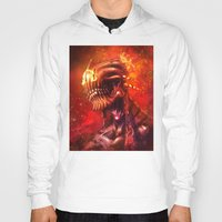 mars Hoodies featuring Mars by Vincent Vernacatola