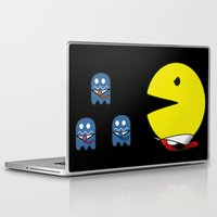 pacman Laptop & iPad Skins featuring pacman effect by Capadochio