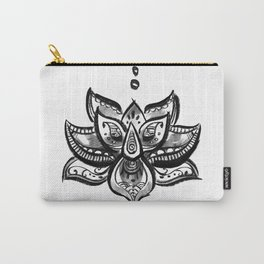 Lotus flower b/w Carry-All Pouch