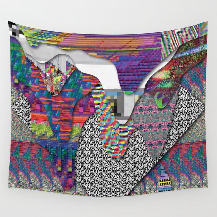 drippy internet Wall Tapestry