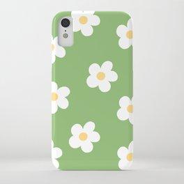 Retro 60's Flower Power Print iPhone Case