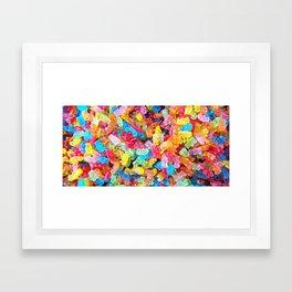 Gummy Bear Don't Care Framed Art Print