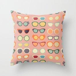 Retro Glasses Throw Pillow