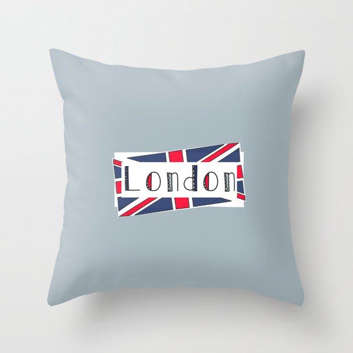 Home, Love, Illustration, Heart, london  Throw Pillow