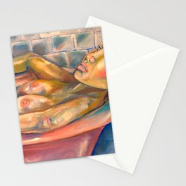 Relaxed nude woman Stationery Cards