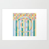 Color Study//The Beach Towel Art Print