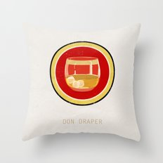 Don Draper Throw Pillow