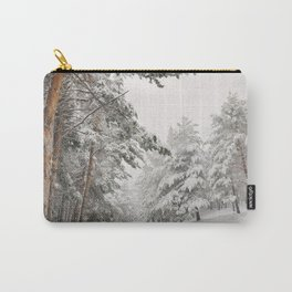 """Snow pines"". At the mountains Carry-All Pouch"