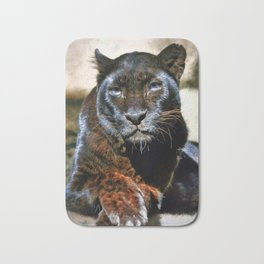 The Black Leopard Bath Mat