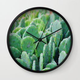 Prickly Pear Cactus Wall Clock