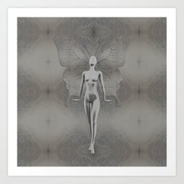 Silver Leaf Fairy Art Print