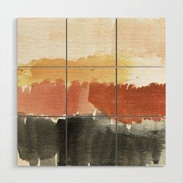 Abstract in Rust n Clay Wood Wall Art