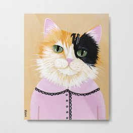 Portrait of Marie the Calico Cat Metal Print